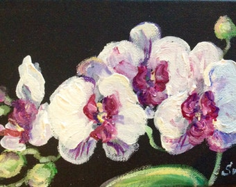 Pink Orchids Painting Orchids  Floral Art
