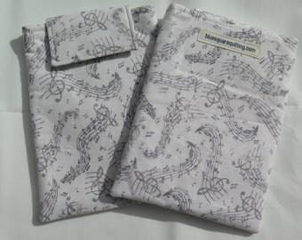 Kindle Paperwhite Case, Kindle Paperwhite Sleeve, Kindle Paperwhite Cover - Kindle Voyage - music notes