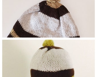 Oversized Hat, Knitted Large Slouchy Beanie, Chunky, Man Winter Accessory, Made in the U S A, tem no. BDE002