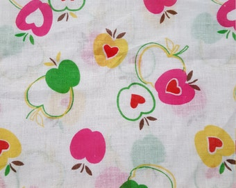 Apples and Hearts Cotton VOILE
