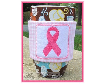 Ribbon Coffee Cozy, In The Hoop - Machine Embroidery Pattern