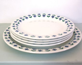 Vintage Roselle Midwinter Plates by Staffordshire Potteries of England