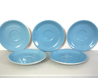 Set of Saucers in Sky Blue by Tams of England