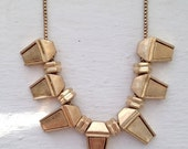 SALE Gold stud necklace, brushed gold necklace, hardware necklace, geometric necklace, jcrew, jcrew neckace, jewelry, Brooklyn, trendy neckl