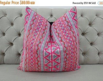 ON SALE, Indigo Batik Pillow Cover- Handmade Batik Fabric,Decorative Cushion,Throw Pillow,Decorative Pillow