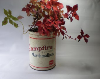 Vintage Large Advertising Campfire Tin Container
