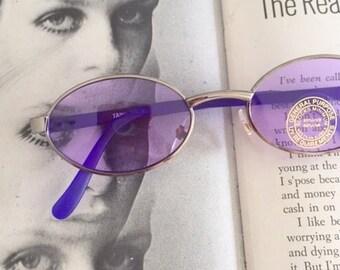 1980s PURPLE SPECTACLES Sunglasses..specs. librarian. groovy. twiggy. mod. retro glasses. prep. secretary. urban. hipster. ozzy. lennon
