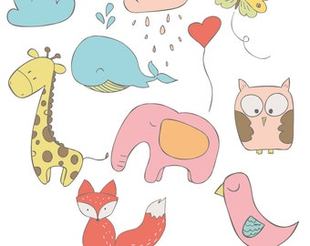 INSTANT DOWNLOAD - Animal Love Cliparts