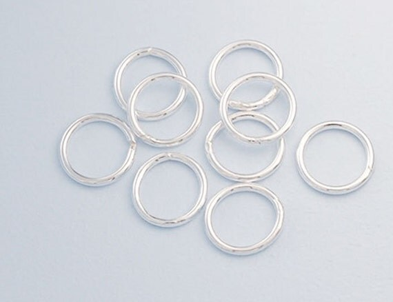 12 of 925 sterling silver solder jump ring 1x9 mm th2349