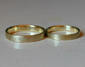 Fairmined 14k yellow gold wedding rings, ethical fashion, ethical style