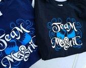 Mystic Team T-Shirt - hand printed fan tee