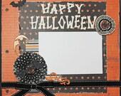 Premade Scrapbook Page 12 x 12 -Happy Halloween