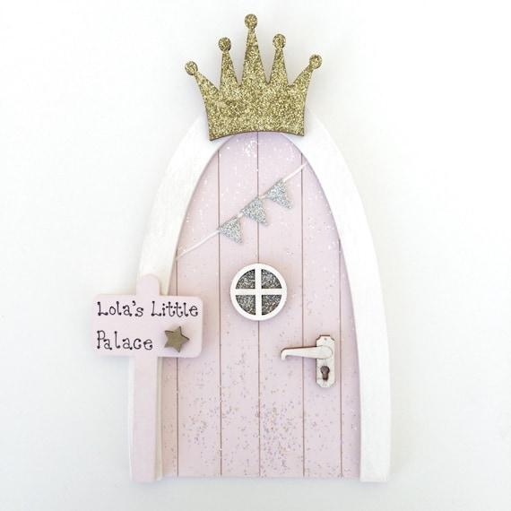 princess fairy door personalised fairy door blush pink gold