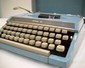 Vintage Baby Blue Royal Companion Portable Typewriter