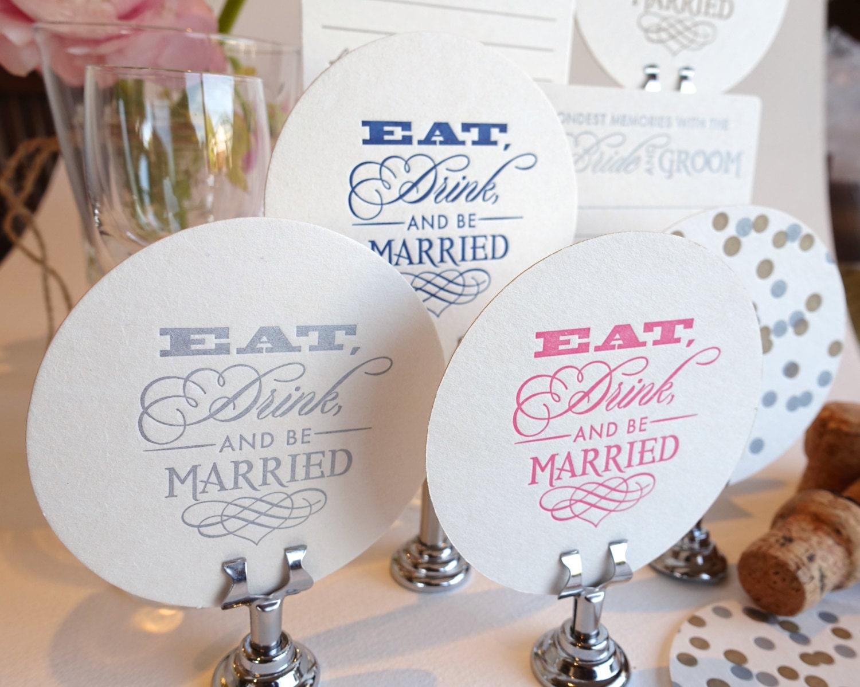 Wedding decor, Wedding favors, table decoration, Wedding Letterpress ...