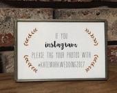 Instagram Wedding Hashtag Sign // Printable PDF