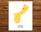 "Guam - U.S. Territory (SL Series) 8x10"" Print in Custom Colors"