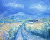 Remembering Haycocks  - Wicklow Landscape  Acrylic Original  painting on canvas