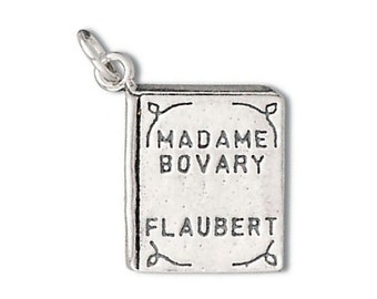 Madame Bovary Book Charm Pendant Sterling Silver 925
