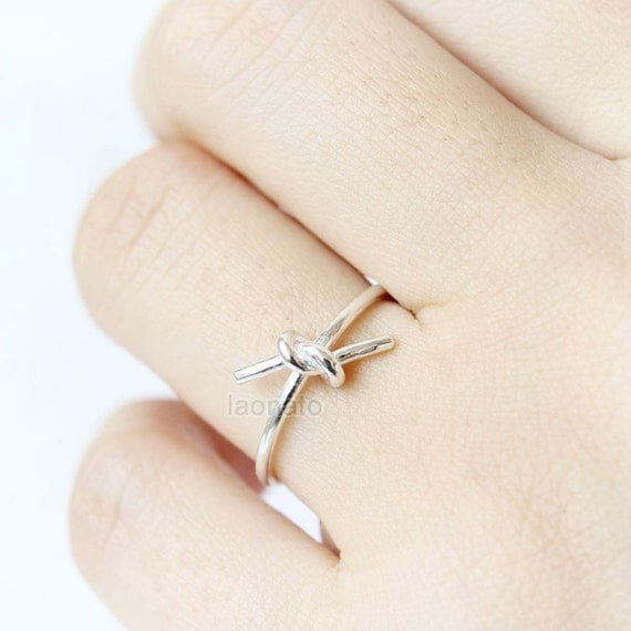 simple knot ring in 925 sterling silver by laonato on etsy