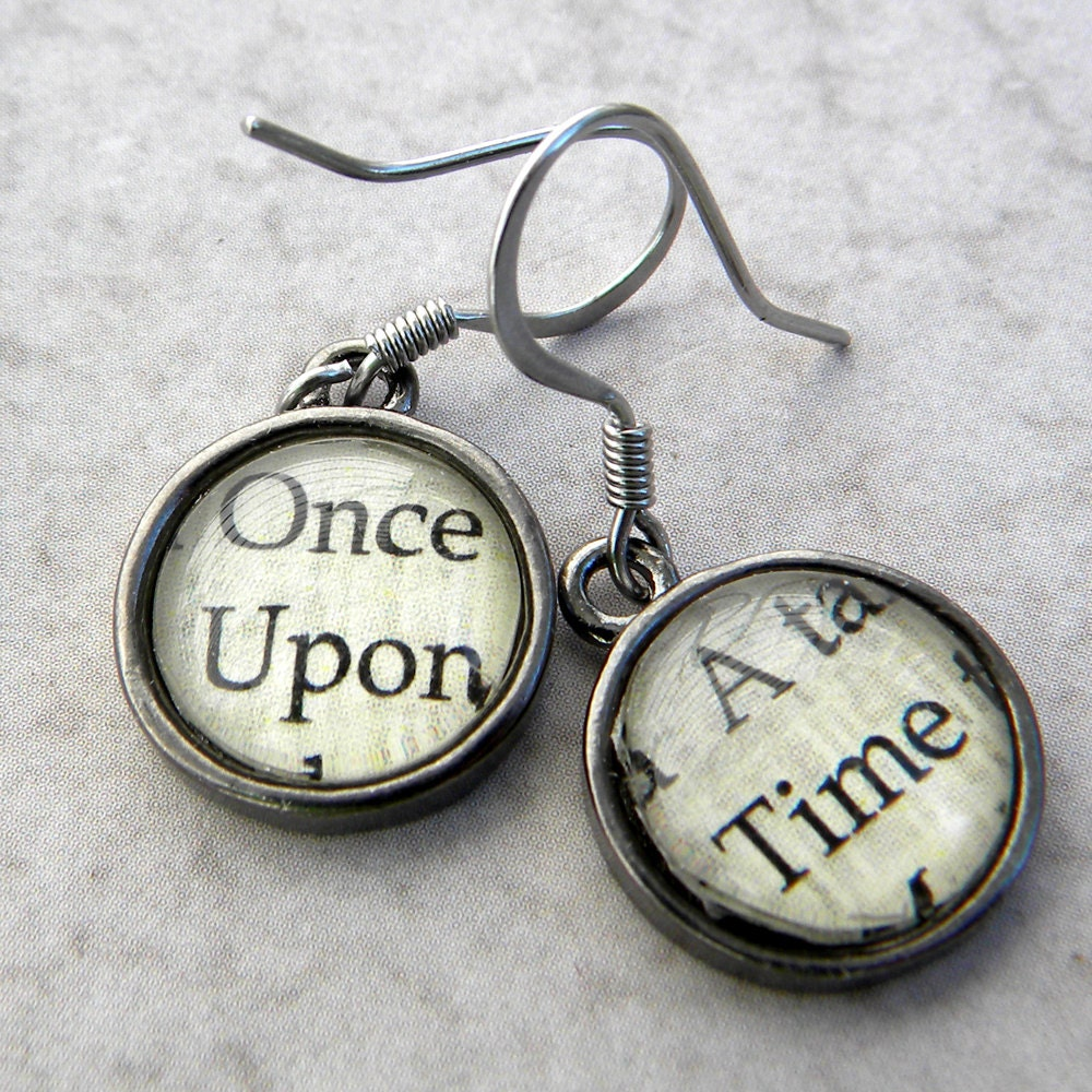Once Upon A Time Words: Once Upon A Time Once Upon A Time Jewelry Word Earrings