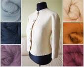 Felted jacket without collar in colors
