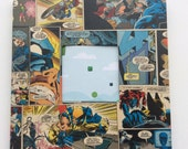 """DC original vintage Wolverine comic strip Pop Art little 10"""" mirror"""