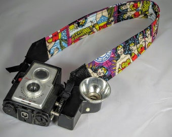 Wonder Woman Camera Strap  DC Comics  Comic con  Superhero  Chick Power
