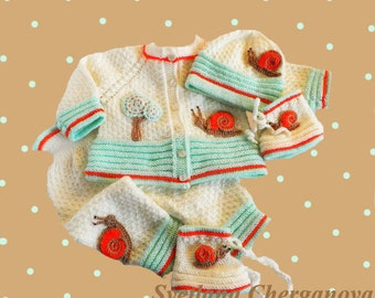 Special listing for Marie Brzozowski - Baby knitted set, CUSTOM