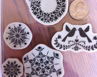 Stampin Up Clear Mount Rubber Stamp Set Northern Hearts Birds  Hearts Wreath Set of 5 Rubber Stamps Northern Hearts NEW
