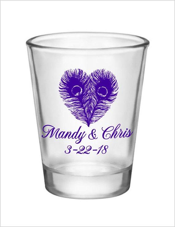 shot glasses personalized wedding favor 120 glass shot glasses