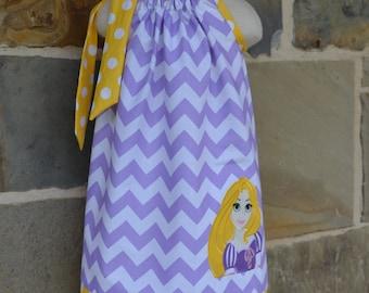 Girl's Embroidered  Rapunzel Pillowcase Dress