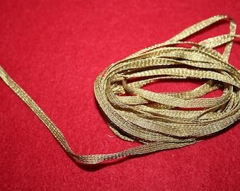 Vintage Gold Metallic Braid- over 1 yard