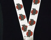 Ohio State University Inspired Lanyard With Swivel Lobster Clasp & Safety Breakaway FREE SHIPPING!!