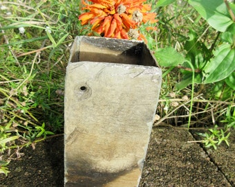 Kitchen utensil holder made from 80 year old recycled slate.  # MV-12