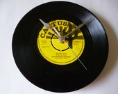 Reggae music vinyl record clock Desmond Dekker Recycled Record Wall clock Gift for music lovers Mancave Bar Music room Yellow Cactus 1970s