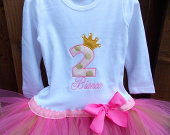 EXCLUSIVE Birthday tutu shirt