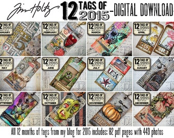 DOWNLOAD: Tim Holtz 12 Tags of 2015