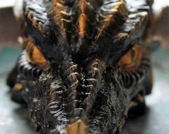 DRAGON SOAP, Black & Gold, Ghost Clear, Cream Copper Dragon Head, Celtic Dragon, Fire Breather, Reptile, Fantasy, Mystical