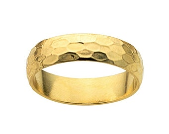 12/12 Yellow Gold-Filled 5.5mm Snakeskin Textured Band Ring                          CC-30761-2