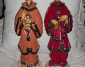 Chinoiserie Vintage ceramic Asian figurine/statues Holland molds