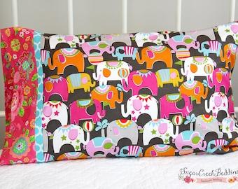 Circus Party Standard Pillow Case  Bedding..Girls Custom Designer Bedding