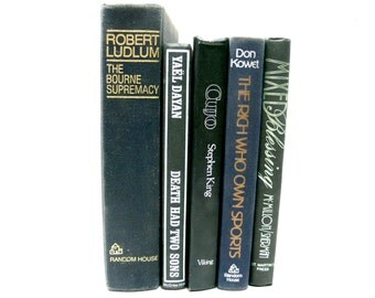 Black Book Decor - Black Book Stack - Vintage First Editions