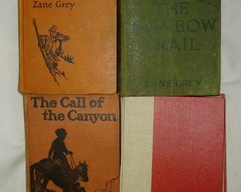 Zane Grey Hardbacks, 4 Books, Group #1