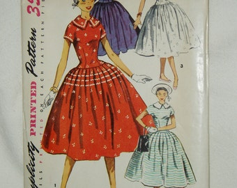 Vintage Simplicity Pattern, Teen Age One-Piece Dress, 1057 Size 16