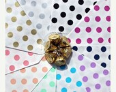 XOXO SALE 50 Polka Dot Wedding Candy Bags, Minnie Mouse Polka Dot Party Bags, Polka Dot Popcorn Bags, Polka Dot Gift Bags- Choose Your Color