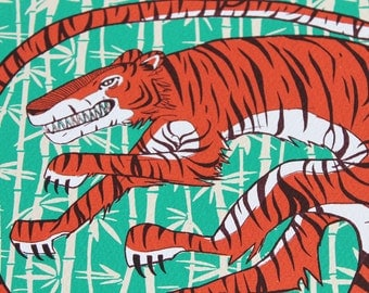 Tiger 4 colour Screenprint - Limited Edition