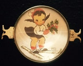 Vintage Handcrafted Christmas Skier Bracelet piece