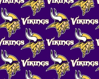 Fabric Traditions - Minnesota Vikings - NFL Cotton Fabric by the Yard - 56-58 Inches Wide - Choose Your Cut