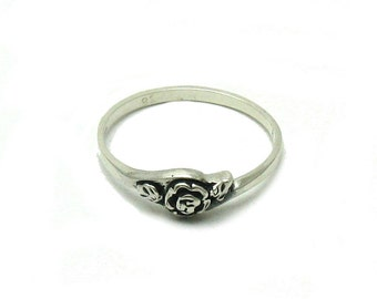 R001495 STERLING SILVER Ring Solid 925 Flower
